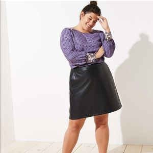 Loft faux leather skirt size 26 NWT